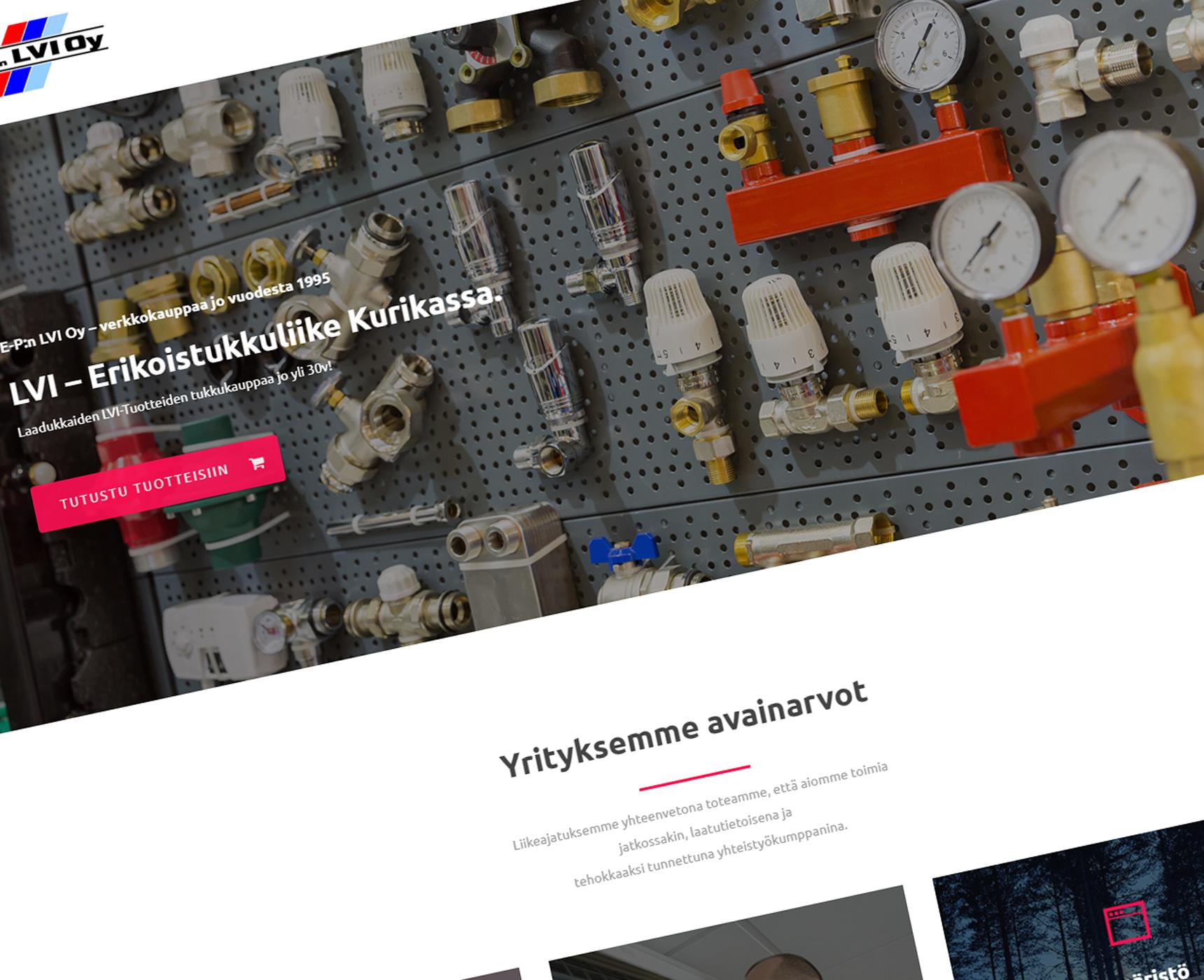 Uusittu verkkosivusto